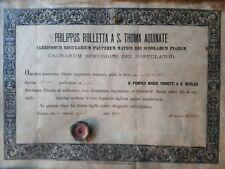 reliquiario S. POMPILIO MARIA PIRROTTI + documento 1892 relicario Reliquia Relic