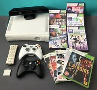 Microsoft XBOX 360 Console Bundle With Kinect - 2 Controllers And 10 Games