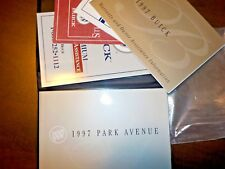 1997 buick Park Avenue owners manual factory GM book 97 Park Ave