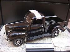 1940 FORD Pick Up - 1:24 - FRANKLIN MINT - Voiture miniature + VITRINE - VJV30