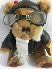 Brass Button Vintage Radar Bear Plush Stuffed Animal Collectible Pilot Aviator