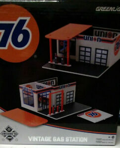 Greenlight Collectible Diorama Vintage Gas Station Union 76 1/64 (ET)