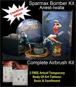 Bomber Airbrush Kit 1 - Sparmax Limited Edition  + Free Insured Freight