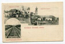 Romania Transylvania 1906 Teius Tövis Alba County,rare multiple view