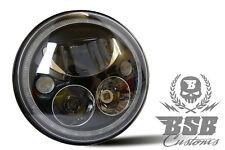 """LED SCHEINWERFER 7"""" mit E und Standlicht schwarz Harley Deluxe FLSTF FLSTC FXSTB"""
