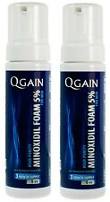 2 X Qgain High Purity Minoxidil 5% Foam for Men 6 month supply 2 bottles 180mL