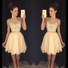 Beaded Chiffon Short Cocktail Dresses Mini Homecoming Graduation Party Prom Gown