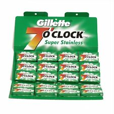 100 X Gillette 7'O Clock Sharp Double Edge Stainless Steel Safety Razor Blades