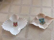 Bone china miniature crested dishes