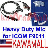 KAWAMALL Heavy Duty Surveillance Ear Mic for ICOM IC-F9011 IC-9021 P-25 Radio