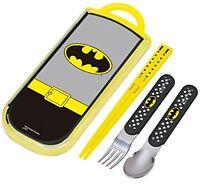DC Comics Batman Bento Chopsticks & Spoon & Fork Set F/S w/Tracking# Japan New