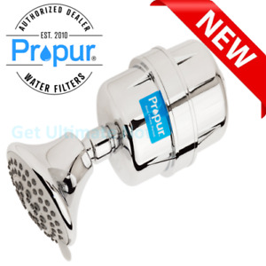 ProOne Chrome Shower Water Filter with Massage Showerhead