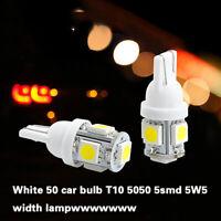 50x Super White T10 Wedge 5-SMD 5050 LED Light bulbs W5W 2825 158 192 168 194