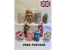 10 Assorted Retro Plastic Sweet Jars Candy Buffet Wedding Christening Party