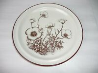 "NEW NORITAKE STONEWARE - DESERT FLOWERS - SET OF 4 DINNER 10 1/2"" PLATES"
