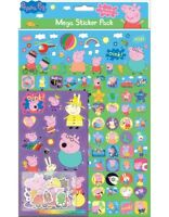 Peppa Pig MEGA Pack of stickers includes A4 glossy sheet, foiled stickers