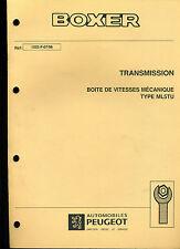 (120) MANUEL ATELIER RÉPARATION PEUGEOT BOXER TRANSMISSION BVM Type ML5TU 07/98