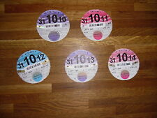 OLD TAX DISCS 5 FOR ONE CAR MAZDA RX8 2009 TO 2014
