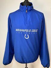 NFL Equipment Reebok Indianapolis Colts Retro Blue Jacket Windbreaker Large VGC