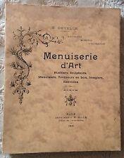 rare BLOIS 1931 E.Develle MENUISERIE D'ART huchiers imagiers ébénistes Blésois