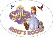 SOFIA THE FIRST #1 PERSONALISED DOOR PLAQUE