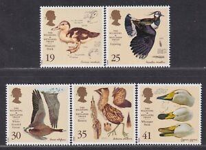 Great Britain SG 1915-1919 XF U/M 1996 Wildfowl & Wetlands Trust Birds Set of 5