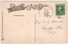 1914 Katonah NY duplex cancel postcard Westchester County Humorous Vegetarian