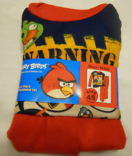 Angry Birds Flannel Sleepwear Set Boys Pajamas 4/5 Red