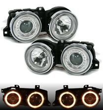 Angel Eyes Scheinwerfer Set für 3er BMW E30 82-94 Klarglas Chrom H1 LHD RHD LWR