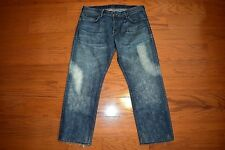 HUDSON - Made USA - RELAXED Fit STRAIGHT Leg Blue Jeans - Men 38 x 30 -Excellent