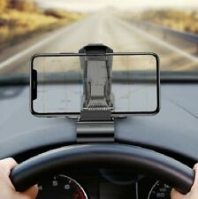 Phone Holder Car Dashboard Stand Strong Elastic Mobile Clip Mount Not Magnetic