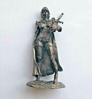 1/32 Fantasy warrior girl w/ sword Tin Metal Soldier Figure 54mm Female handmade