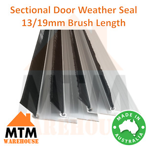 Sectional Panel Lift Door Dust Weather Protection 13/19mm Brush Strip Seal Kit