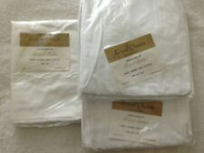 NEW Vintage TWIN Fieldcrest Fitted Bottom Bed Sheet WHITE Royal Satin -Irregular