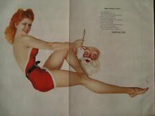 "December 1942 Varga Girl Esquire Gatefold Pinup Christmas Redhead ""Miss Santa"" !"