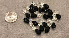 Black And Clear Glass Ball Tassels /Latkan for suits/jewellery Making