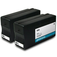 2 Pack for HP 950 Black Ink Cartridge for OfficeJet Pro 251dw 276dw 8100 8600