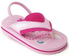 MARES MERMAID Kids Sandals Flip Flops,  Elastic Heel Strap PINK - UK Infant 7