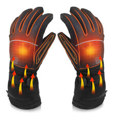 UK Men Electric Rechargeable Battery Heated Touchscreen Winter Hand Warm Gloves