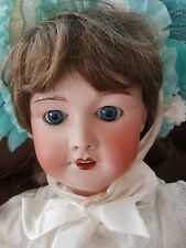"Antique French Bisque Head SFBJ Tete Jumeau 24"" Doll Circa 1899"