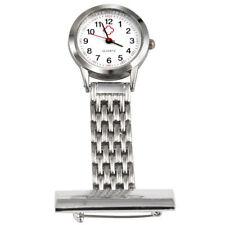 ACERO INOXIDABLE ENFERMERA Reloj Broche Túnica De Bolsillo Relojes