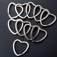 10PCS coeur métal porte-clés Split anneaux keyring keychain cerceau boucle ~PL