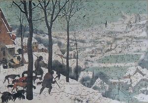 "Wentworth 250 Piece Wooden Jigsaw Puzzle. ""Hunters in the Snow"" Pieter Bruegel"