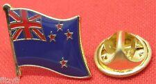 New Zealand Country Flag Lapel Hat Cap Tie Pin Badge Aotearoa Brooch