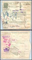 1932 ITALY Parcel Receipt - Bordighera to Brussels, Belgium, Chiasso Swiss PM FL