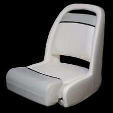 Bayliner Boat   Captains Bolster Seat  Off White / Gray M2491AB