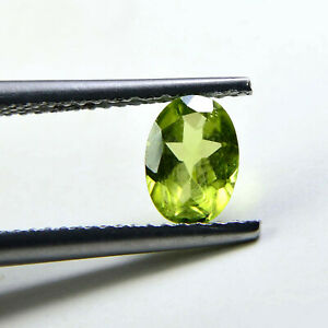 7x5 mm Natural Peridot Faceted Oval Loose Gemstone For Jewelry Supply P-037