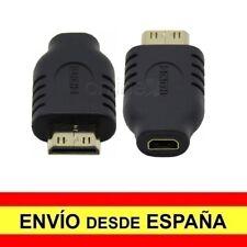 Adaptador Convertidor Mini HDMI Macho a Micro HDMI Hembra Conector Dorado a3928