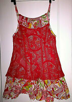Dress Free People Womens Multi Colored Floral Sleevless Sun Dress Size XS TP