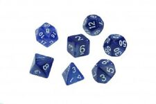 Dice Pearl Set of 7 Blue Dice